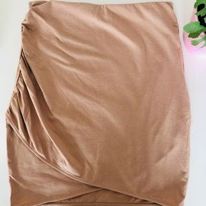 H&M Nude Bodycon Skirt